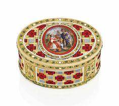 SWISS OR GERMAN ENAMELLED GOLD SNUFF-BOX