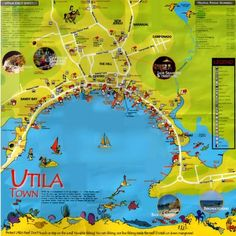 Utila Honduras Map