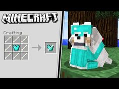 How to get WOLF ARMOR in Minecraft! - Roblox about you searching for. Minecraft Farmen, Villa Minecraft, Minecraft Cheats, Minecraft Secrets, Amazing Minecraft, Minecraft Tutorial, Minecraft Blueprints, Cool Minecraft Houses, Minecraft Creations