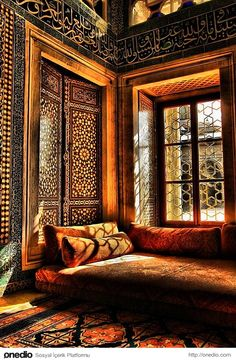 Interior of Harem section in Topkapı Palace, Istanbul.