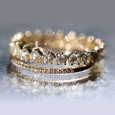 Geren Diamond band by ILA paired with the Fairy Lights Band by Catbird
