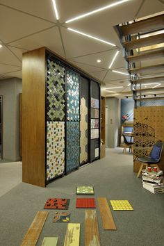 The Ceramic Shoppe – a+t associates Showroom Interior Design, Tile Showroom, Store Interiors, Office Interiors, Commercial Design, Commercial Interiors, Jewellery Showroom, Tile Stores, Art Deco Home