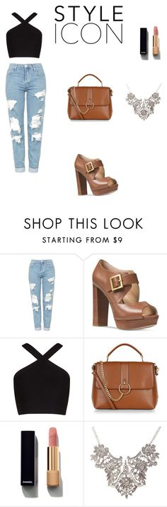 """""""Untitled #2"""" by anidatuholjakovic0307 ❤ liked on Polyvore featuring Topshop, Michael Kors, BCBGMAXAZRIA, New Look and Chanel"""