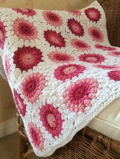 Sunburst Granny SquaresThis crochet pattern is available as a free download...  Download Pattern: Sunburst Granny Squares