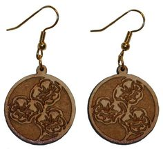 Flower earrings with 1 inch wooden beads- gold plated EP Laser http://www.amazon.com/dp/B00FEPKITY/ref=cm_sw_r_pi_dp_AQzawb0ZN1P4A