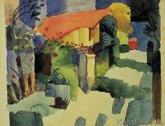 August Macke - Haus im Garten