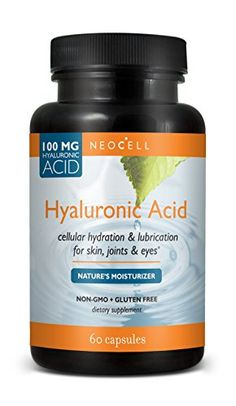 Neocell Hyaluronic Acid, 100 Mg, 60 Count Mitral Valve Prolapse, Ligament Tear, Food Porn, Body Joints, Natural Moisturizer, Hyaluronic Acid, Health And Beauty, Fit, The 100