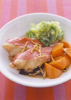 きんめ鯛の煮つけ しょうが風味 | 夏梅美智子さんのレシピ【オレンジ ...