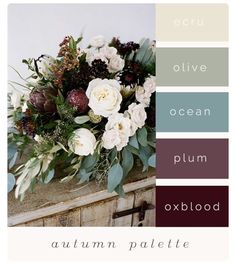 The Unconventional Bride Guide: Finding Inspiration For Your Wedding Colours - Colour Palette Inspiration - New Color Fall Color Palette, Neutral Color Palettes, Ocean Color Palette, Palette Art, Color Palate, Fall Wedding Colors, Color Palette For Wedding, Spring Wedding, October Wedding Colors