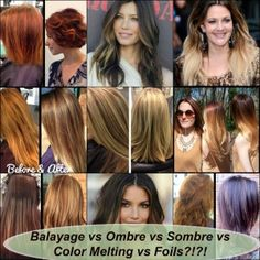 Hair Tip: what's the difference between balayage, ombre, sombre, foils, and color melting