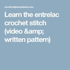 Learn the entrelac crochet stitch (video & written pattern)