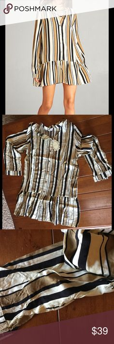 Striped Tunic/Dress lightweight Pair with leggings and heels or flats, wear as a dress approx 32 inches, use all 4 seasons Tops Tunics