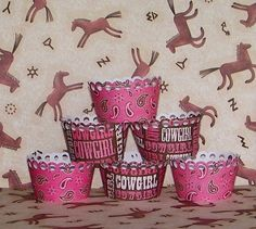 Pink Bandana Cowgirl Cupcake Wrappers by OliviasPaperShoppe926 x 832220.2KBwww.etsy.com