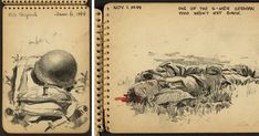 21-Year-Old WWII Soldier's Sketchbooks Show War Through The Eyes Of An Architect | Bored Panda
