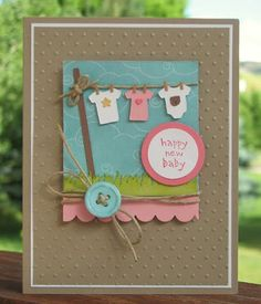 Scrapping Mommy: Happy New Baby.  Using embossing folders.