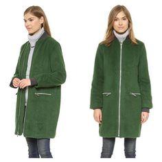 Elizabeth & James Green Coat #ShopMintATL #DesignerConsignment l Call 404-343-2033 for sizes & prices