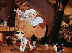 Disney Geppetto and Pinocchio Disney Pixar, Old Disney Movies, Disney Films, Disney Cartoons, Disney Art, Pinocchio Disney, Disney Characters, Hipster Disney, Disney Love