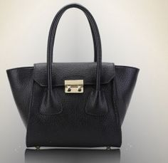 black candy color bat genuine leather shopping bags by starbag, $69.50