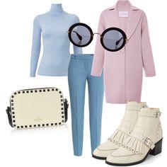 casual outfit by diana1201 on Polyvore featuring mode, Uniqlo, Carolina Herrera, HUGO, Valentino and Miu Miu