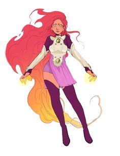 Super Hero Outfits, Super Hero Costumes, Comics Girls, Dc Comics, Avengers Coloring Pages, Teen Titans Starfire, Raven Beast Boy, Superhero Suits, Villain Costumes