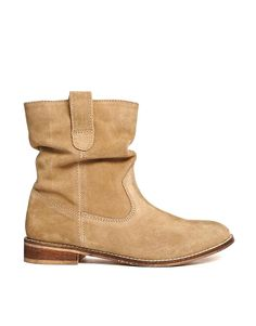 Image 2 ofASOS ALOOF Suede Pull On Ankle Boots
