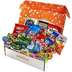 Gift Care Package with Individual Snack Bags, Variety Pack Snacks, Food Gifts - care package Laffy Taffy, 12 Year Old Boy, Snack Bags, Make Up Your Mind, Care Packages, Granola Bars, Gourmet Recipes, Best Gifts, Chips