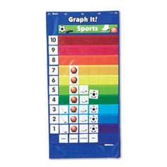 Double Sided Graphing Pocket Chart Teaching Supplies Learning Resources Clroom Charts