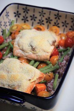 Gegratineerde zalm ovenschotel met groente recept van Foodblog Foodinista