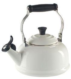 White Le Creuset Tea Kettle
