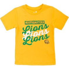 Gen2 Toddlers' Southeastern Louisiana University Watermarked T-shirt (Gold, Size 2 T) - NCAA Licensed Product, NCAA Youth Apparel at Academy Sports