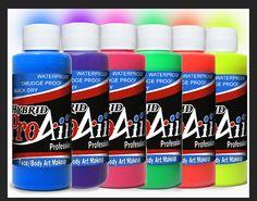 ProAiir Hybrid Waterproof Makeup - Black Light Neon – SOBA - Show Offs Body Art