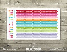 Appointment Flags  50 Planner Stickers  1 Sheet  by TheNiftyStudio