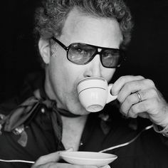 Will Ferrell with the retro look while drinking tea. :) #tea #cuppa #teaculture #teaparty #willferrell
