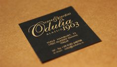 Odulia case e giardini business card by CREA OFFICINA