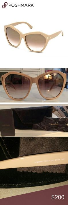 067b6ff395d5 Tom Ford Angelina Sunglasses w/ case cloth papers Listed or ess n EBY!  These are gorgeous, brand new Tom Ford Sunglasses! They are oversized, a  universally ...