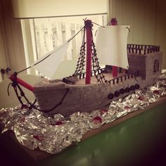 A real pirate ship made of Candy! It's a boy's dream