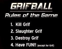Grifball Rules Of The Game