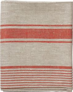 Red Stripe Tablecloth traditional table linens $98