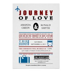 Vintage Travel Themed Wedding Personalized Invitation