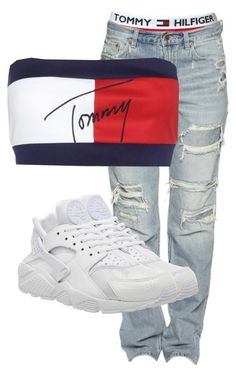"""""""Untitled #3130"""" by xirix ❤ liked on Polyvore featuring Tommy Hilfiger and NIKE"""