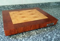 New end grain cutting board, made with marfim and jatobá (brazilian woods). Nova tábua de corte feita de marfim e jatobá. #diy #madebyme #woodwork #woodworking #endgraincuttingboard