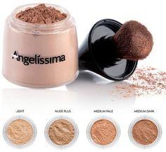 Polvo Mineral traslúcido #Angelíssima ideal para fijar el maquillaje y matizar el brillo del rostro.  https://www.facebook.com/VidAngelissima