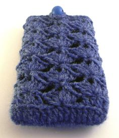 SALE - iPhone / iPod touch Crocheted Cover Cozy - Denim Blue
