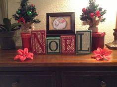 Noel / Decorative Block Letters / Holiday Home by NicsLoveLetters, $20.00