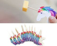 Celebrate having a 'real' party with these Unicorn party picks! Let's start being honest, you know that your party wouldn't be complete without these stuck into your cocktail olives. Each pack contain