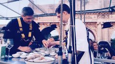 Dinner in the Sky in Brussels hoists diners 150 feet in the air via crane for a meal served by Michelin-starred chefs. Photo Credit: Felicity Long