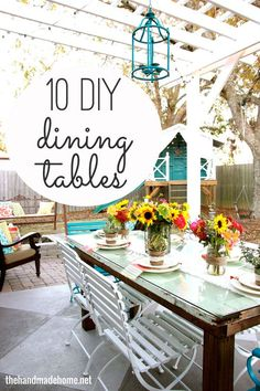 10 DIY dining table ideas for how to build your own table. From farmhouse to contemporary, there's something for every style.