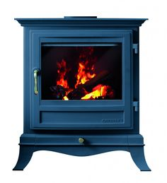 Chesney's electric stoves with Farrow & Ball in Hague Blue