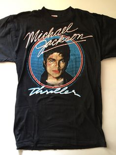 476312208 michael jackson true vintage thriller shirt early #80s never worn from  $49.99 80s Tshirts,