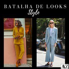 BATALHA DE LOOKS   TERNINHO AMARELO X TERNINHO AZUL Looks Style, Suits, Photo And Video, Videos, Instagram, Fashion, Electric Blue Suit, Battle, Style